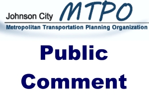 Johnson City MTPO Logo with words Public Comment