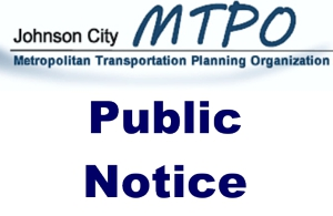 Johnson City MTPO Logo with words Public Notice