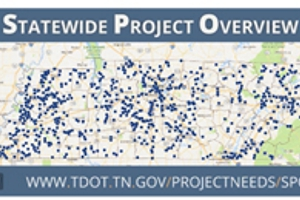 Picture of Map of TDOT Project Tracker Website